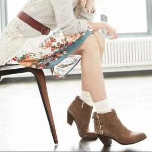"""SAM EDELMAN """"Lucca"""" Tan Suede Ankle Booties"""